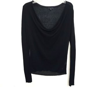 Eileen Fisher | Ribbed Cowl neck Long Sleeve Top